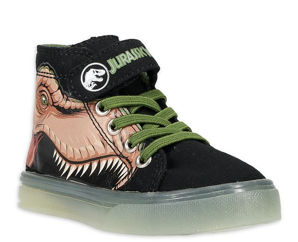Toddler Lighted High Top Sneakers: Jurassic World $8, Spiderman $13, Jurassic World Rain Boots $10