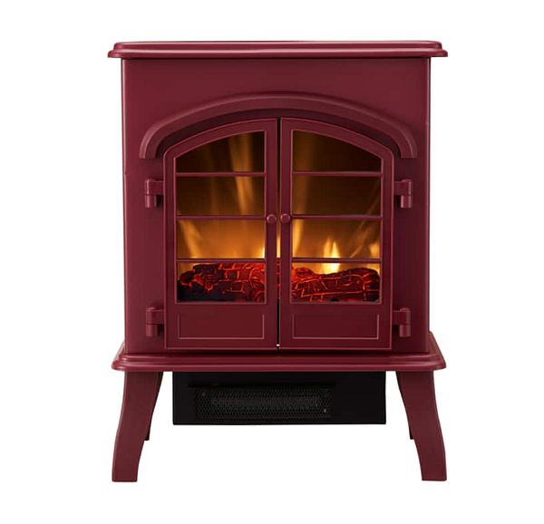 Bold Flame Electric Space Heater, Glossy Red