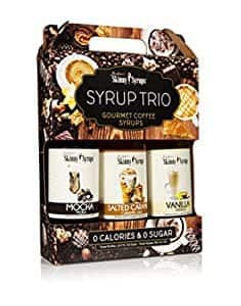 Jordan's Skinny Mixes Coffee Syrup Salted Caramel, Vanilla, Mocha (3 Bottles)