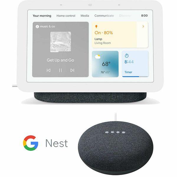 Google Nest Hub Smart Display (2nd Gen) + Google Nest Mini