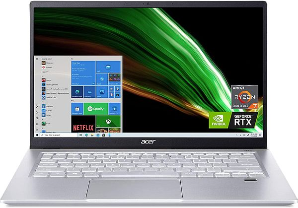 All new Acer Swift X SFX14-41G-R1S6: 14'' FHD IPS, Ryzen 7 5800U, 16GB LPDDR4X, RTX 3050 Ti MQ,  Win10H