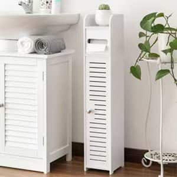 Small bathroom storage toilet paper cabinet
