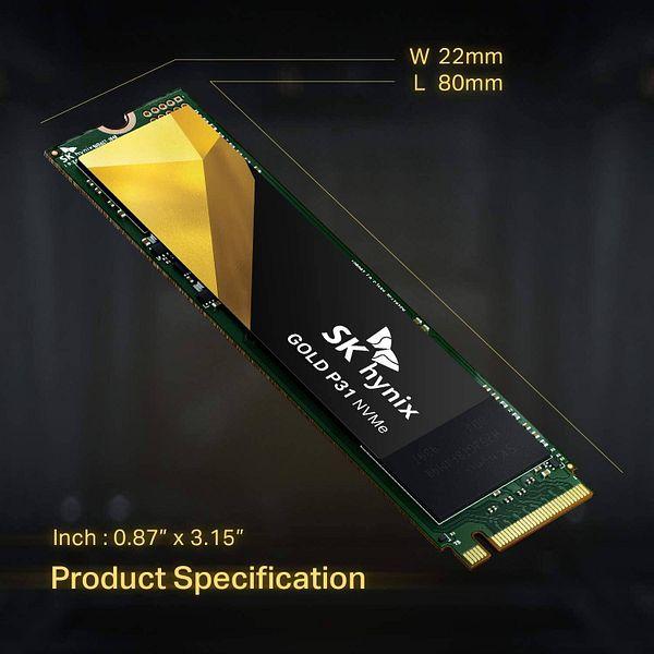 1TB SK hynix Gold P31 NVMe Gen3 M.2 2280 Internal SSD