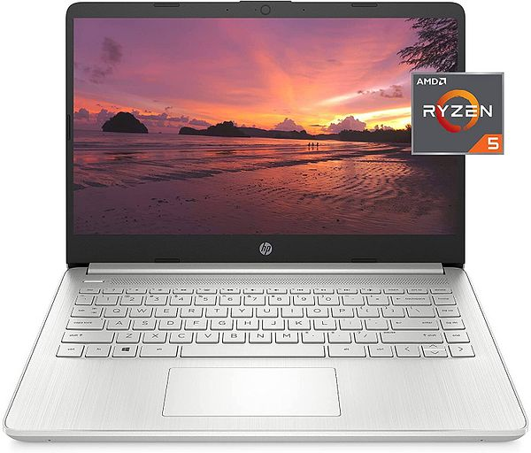 HP 14-fq1021nr Laptop: 14'' FHD IPS, Ryzen 5 5500U, 8GB DDR4, 256GB PCIe SSD, Win10H