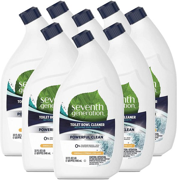 Prime Members: 8-Pack 32-Oz Seventh Generation Toilet Bowl Cleaner (Emerald Cypress and Fir) $12.63 & More + Free Shipping