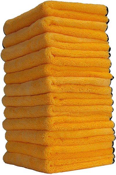 """Prime Members: 12-Pack Chemical Guys 16""""x16"""" Professional Grade Premium Microfiber Towels"""