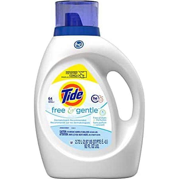 2-Count Tide Free & Gentle Liquid Laundry Detergent, 64 Loads
