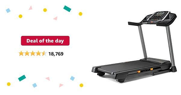 Deal of the day for Prime Members: NordicTrack T Series Treadmill