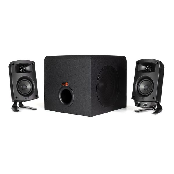 """Klipsch Pro Media 2.1 THX Computer Speakers Two-Way Satellites 3"""" Midbass Drivers and 6.5"""" Subwoofer - $70 + Free 2-day Delivery"""