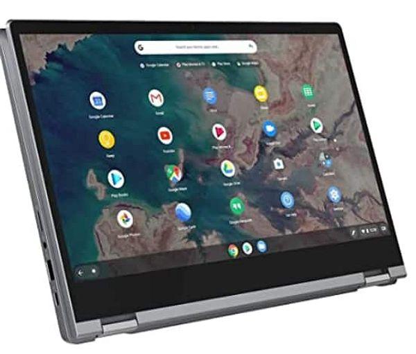 """Lenovo Chromebook Flex 5 13"""" Laptop, FHD (1920 x 1080) Touch Display, Intel Core i3-10110U Processor, 4GB DDR4 Onboard RAM, 64GB eMMC $337.31"""