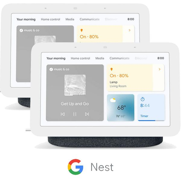 Google Nest Products: 2-Pack of Google Nest Audio Smart Speakers
