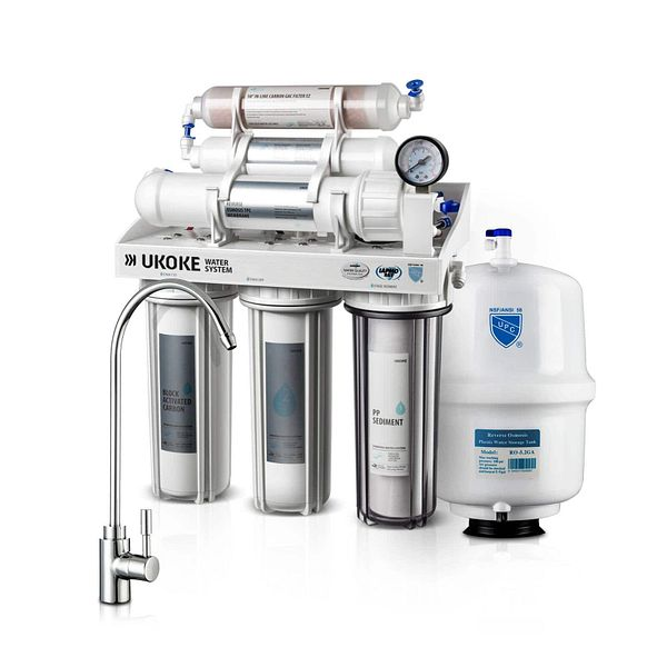 Ukoke 6 Stages Reverse Osmosis 75 GPD Water Filteration System