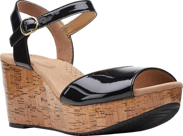 Clarks Annadel Mystic Ankle Strap Wedge Sandal (Women's) $54.95 at shoes.com