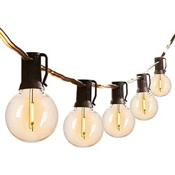 String Lights 50 ft Outdoor Shatterproof G40 LED Clear Globe $29.39 + free shipping