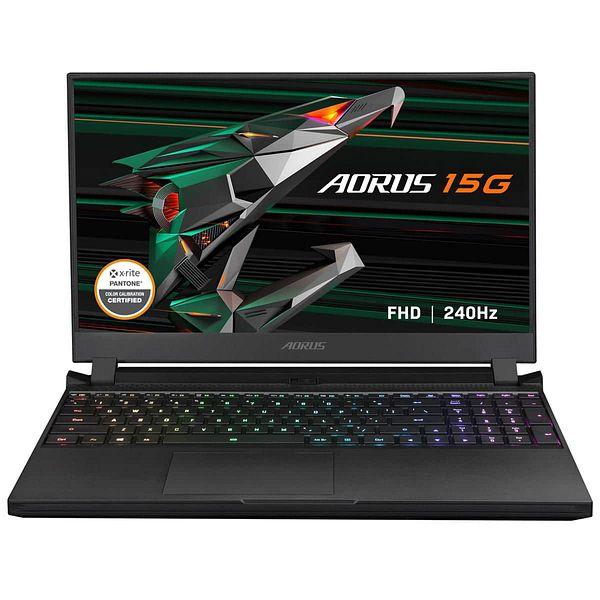 "Gigabyte Aorus 15G Laptop: i7 10870H, 15.6"" FHD 240HZ, 1TB SSD, 32GB DDR4, RTX 3080 + Bag"