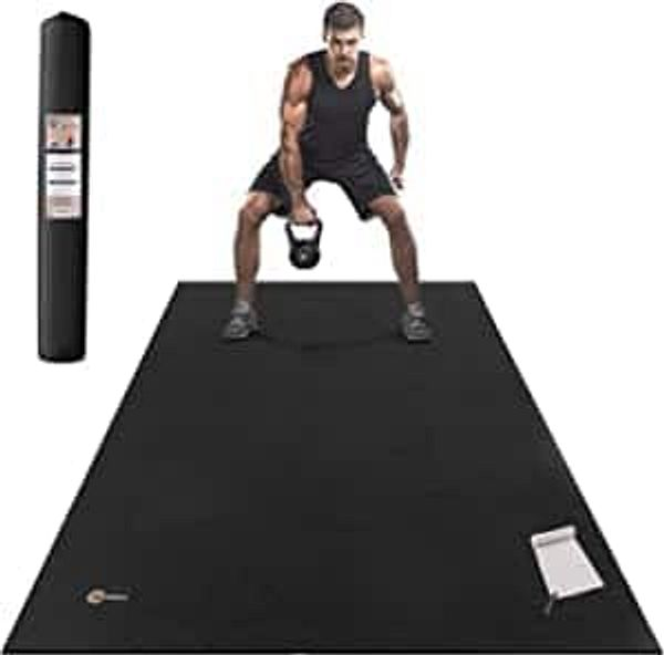 CAMBIVO Large Exercise Mat 6'x4'x7mm, Shoes Friendly Workout Mat
