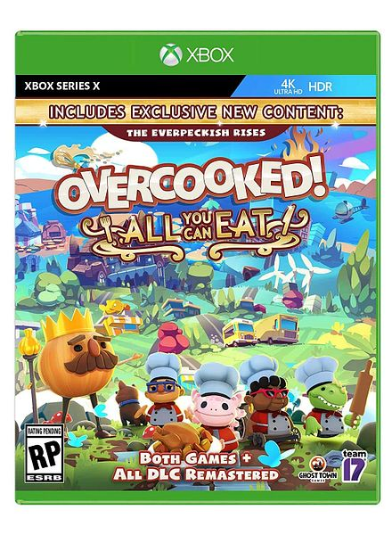 Overcooked!: All You Can Eat: Nintendo Switch $29.99; Xbox Series X or PS4 $19.99