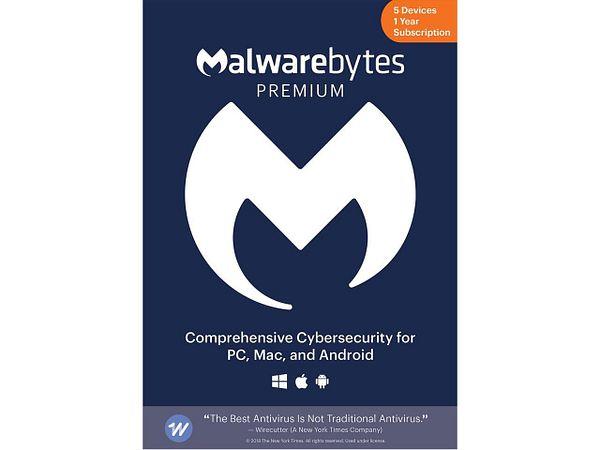 Malwarebytes Anti-Malware Premium 4.0 - 5 Devices / 1 Year [Download]