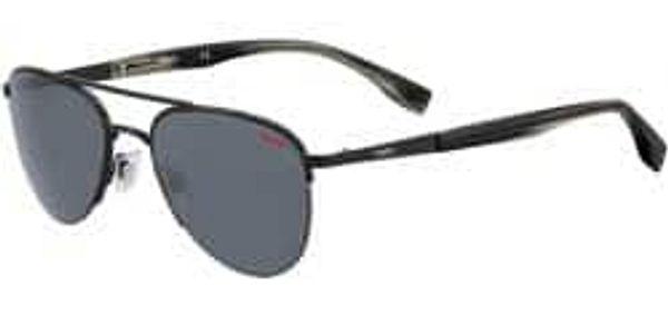 Hugo Boss Sunglasses: Boss Men's Matte Black Stainless Steel Soft Square