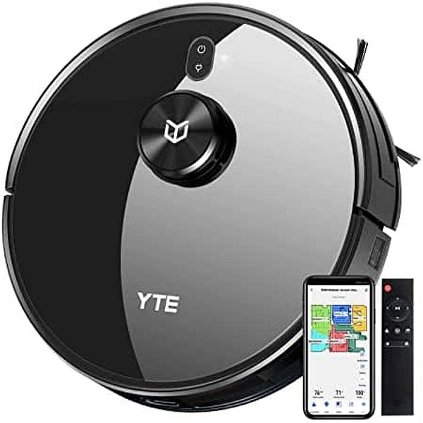 YTE Robot Vacuum with Lidar Mapping Technology, 2700Pa Strong Suction
