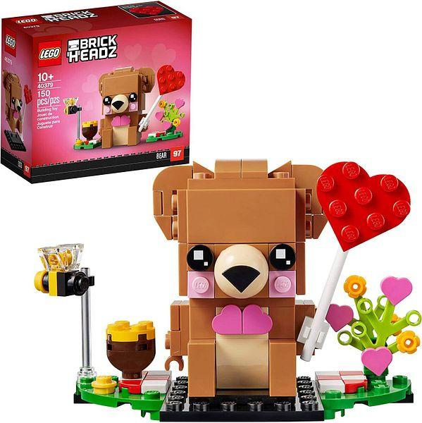 LEGO BrickHeadz Valentine's Bear Building Kit (40379) $5 + Free Shipping w/ Prime or on $25+