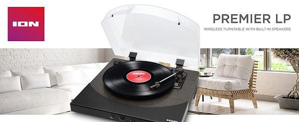 Ion Audio Premier LP 3-Speed Bluetooth Turntable