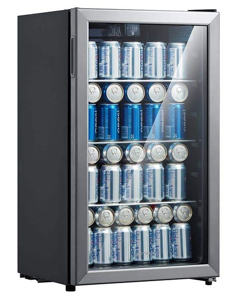 Emerson 115 can/34 wine bottle beverage refrigerator with temperature control