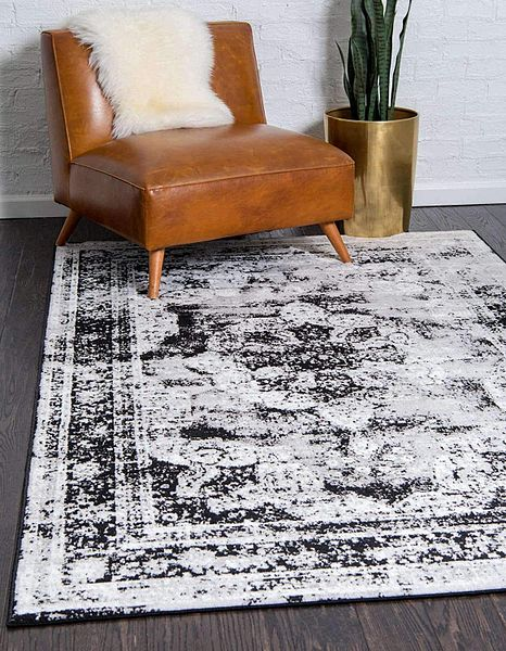 5' x 8' Unique Loom Sofia Collection Area Rug: Black/Gray $38.65, Dark Brown/Light Brown