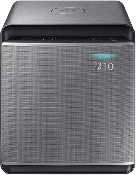 Samsung Cube Smart Air Purifier in Honed Silver
