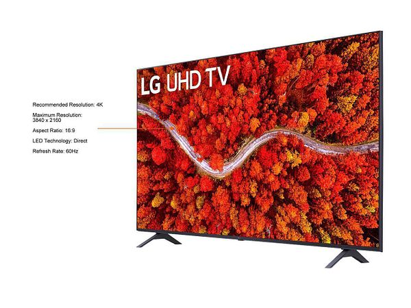 LG UHD 80 Series 43 inch Class 4K Smart UHD TV with AI ThinQ (43UP8000PUA, 2021)
