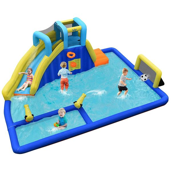 Costway Inflatable Water Slide Jumping House Splash Pool $269.95 with Free Shipping