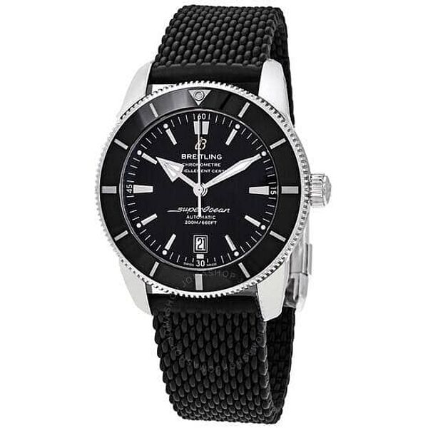 BREITLING Superocean Heritage II Automatic 46 mm Black Dial Men's Watch for $3175 + Free Shipping