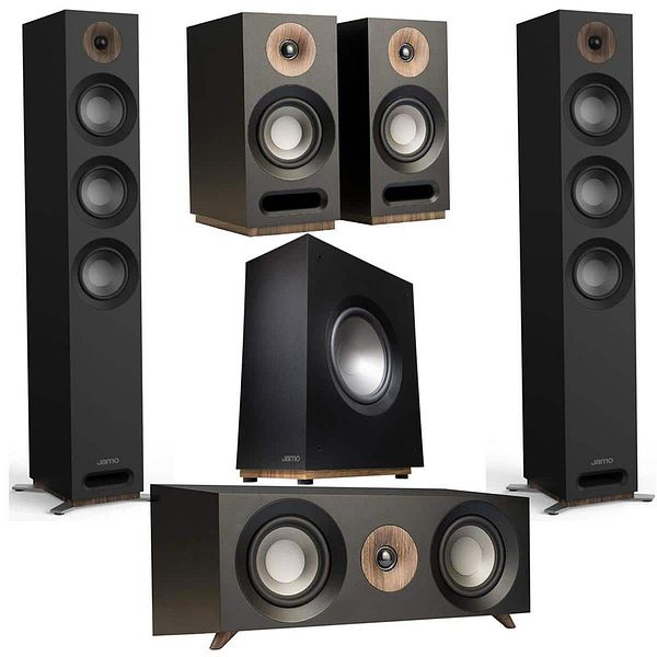 Jamo Speakers: Pair S 809 + S 83 Center + Pair S 803 Bookshelves + S 810 SUB