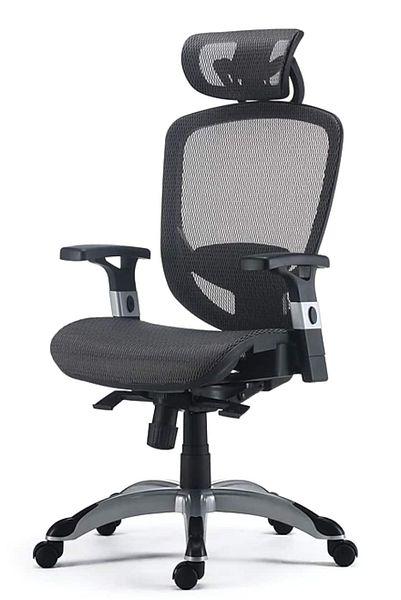 FlexFit™ Hyken Mesh Task Chair, Charcoal Gray